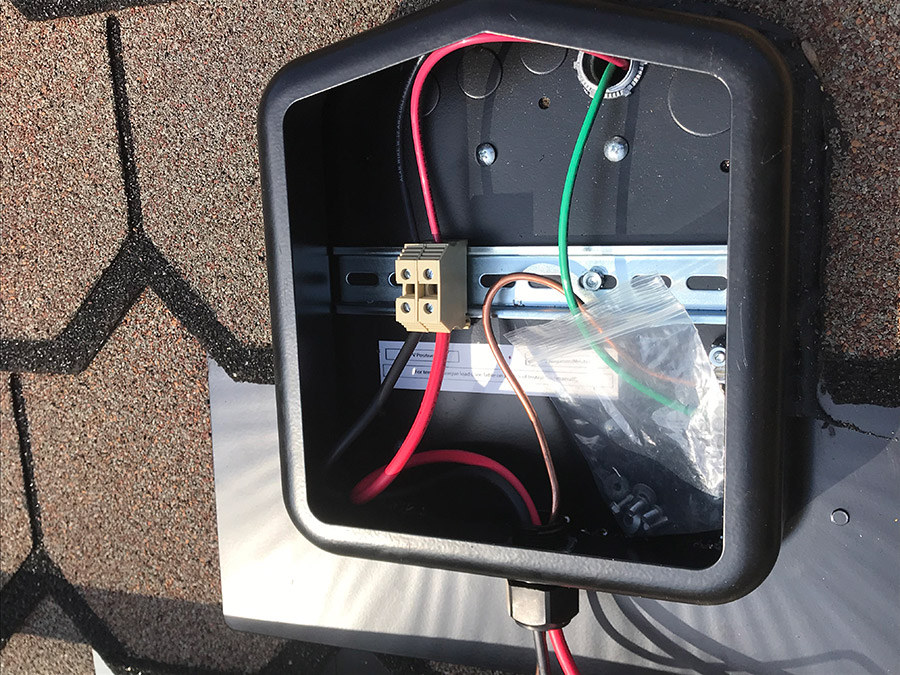 Where are the Wires on a Solar Installation?